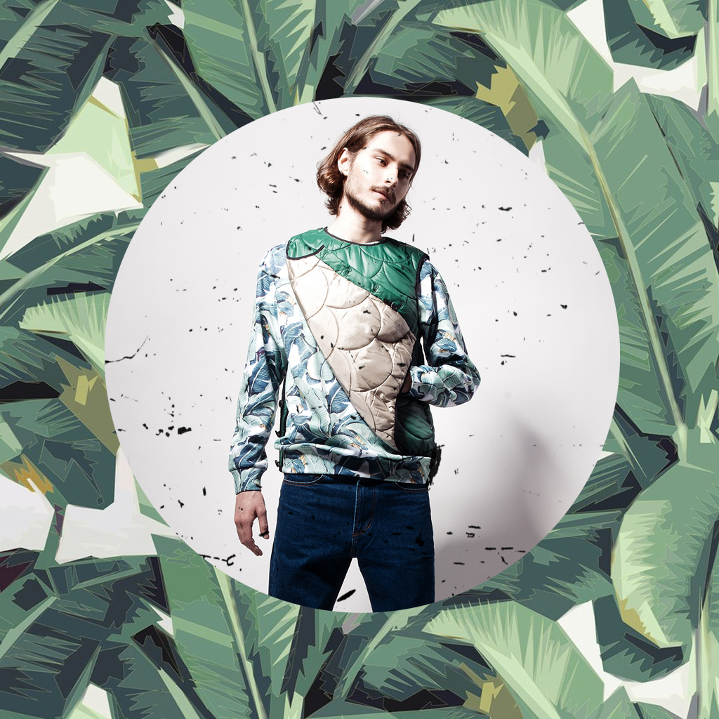Tropic leaves sweatshirt