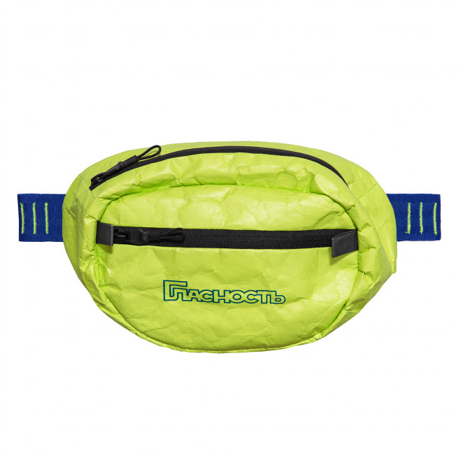 Tyvek Paper Printed Trim in Frozen Yellow and Blue Waist Bag by Fusion